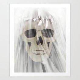Till' Death Skull Bride Art Print