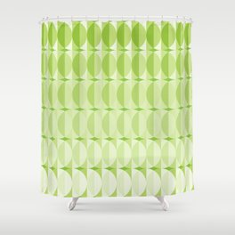 Leaves at springtime - a pattern in green Shower Curtain