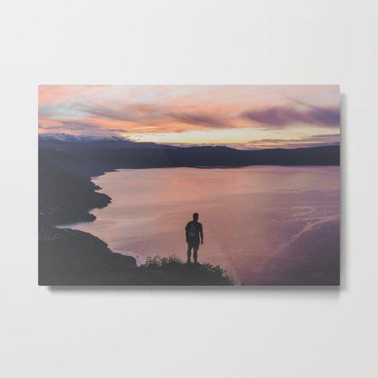 Surise over Lago de Atitlán Metal Print