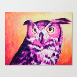 Owl Creep You Out  Canvas Print