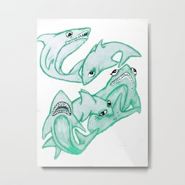 sharkies Metal Print