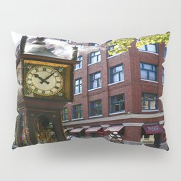 Gastown Steam Clock - Vancouver Pillow Sham