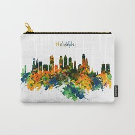 Philadelphia Watercolor Skyline Carry-All Pouch