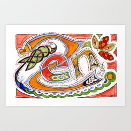 Zen-enluminure-celtic Art Print