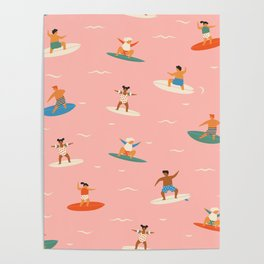 Surf kids Poster