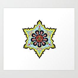 Alright linda belcher mandala kaleidoscope Art Print