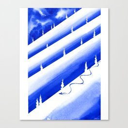 Thinking About Snow Canvas Print