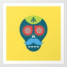 Mouscacho Skull 1 Art Print