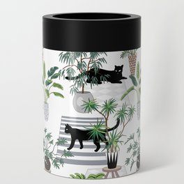 cats in the interior pattern Can Cooler