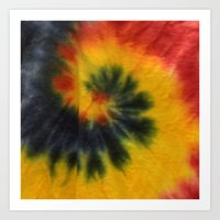 tie dye Art Prints featuring Tie Dye  by Mylittleradical