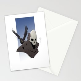 The Skull and the Raven Stationery Cards