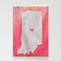 tote bag Stationery Cards featuring Indianapolis Love Pink Ombre (Bag Art) by Aries Art