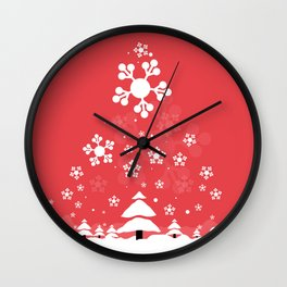 It's snowing Wall Clock