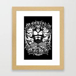 The Monster's Garden Framed Art Print