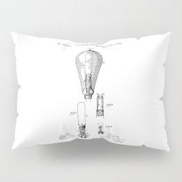 patent art Edison 1892 Incandescent electric lamp Pillow Sham
