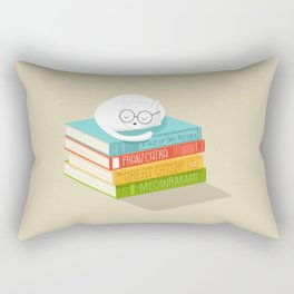 The Cat Loves Books Rectangular Pillow