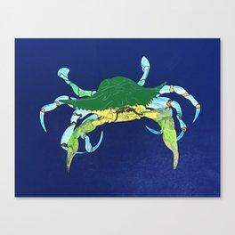 Crab Collage Canvas Print