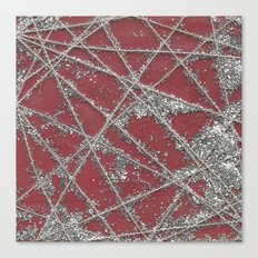 Sparkle Net Red Canvas Print