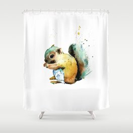 Squirrel - Nuts Shower Curtain
