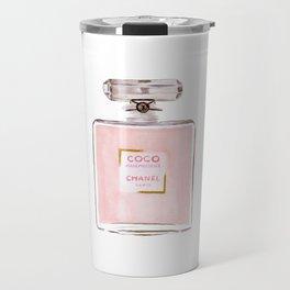 Classic Pink Parfum Perfume Fashion Cute Minimalism Travel Mug