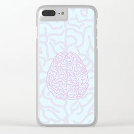 Pastel Brain Clear iPhone Case