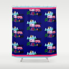 Lady Bed Rock Shower Curtain