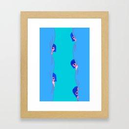 Feeling Shy Framed Art Print