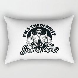 Super Theologist Rectangular Pillow