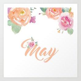 May Florals Art Print