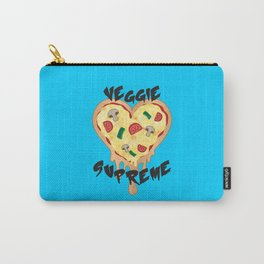 Veggie Supreme - Deluxe Vegetarian Heart Shaped Pizza  Carry-All Pouch