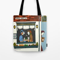 catcher in the rye Tote Bags featuring Rye by Natallia Pavaliayeva