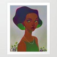 neon - emerald Art Print