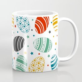 Spring Easter Egg Hunting Flower Paint Colorful Gift Coffee Mug