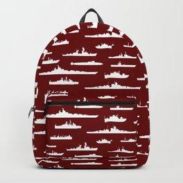 Battleship // Maroon Backpack