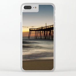 Motion of the Ocean - Sunrise Coastal Landscape Photo Clear iPhone Case