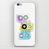 old school iPhone & iPod Skins featuring old school by Sara Eshak