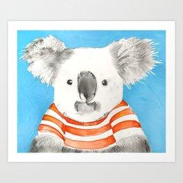 Bruce The Koala Art Print