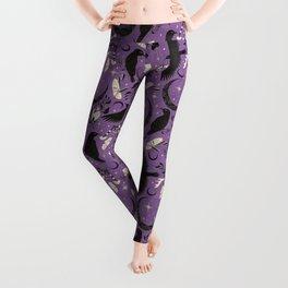 Raven Tarot Purple  Leggings