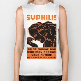 Vintage poster - Syphilis Biker Tank