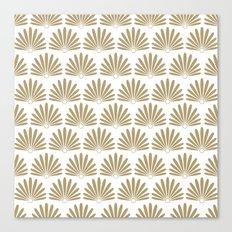 White & Tan Daisies Canvas Print