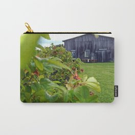 Wild Rose Bush and the Old Barn Carry-All Pouch