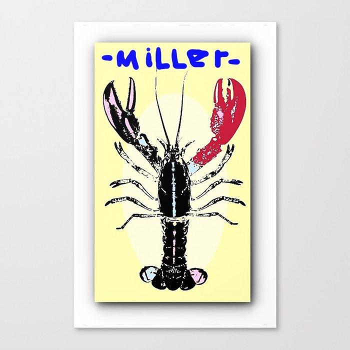 Miller Lobster Canvas Print