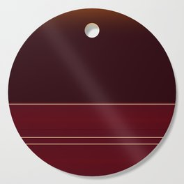 Rich Burgundy Ombre with Gold Stripes Cutting Board