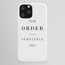 New Order Substance 1987 iPhone Case