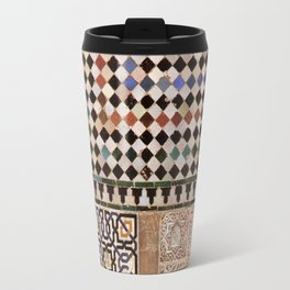 Details in The Alhambra Palace. Gold courtyard Travel Mug