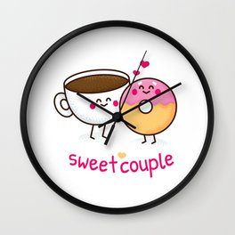 Sweet Couple Wall Clock
