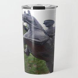 Ataturk on Horseback Travel Mug