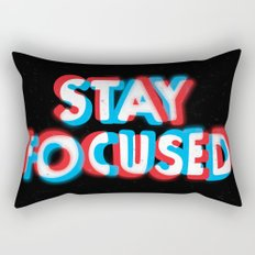 Stay Focused Rectangular Pillow