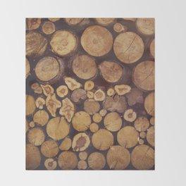 pile of wood Throw Blanket