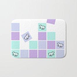 polar bear sqaures Bath Mat